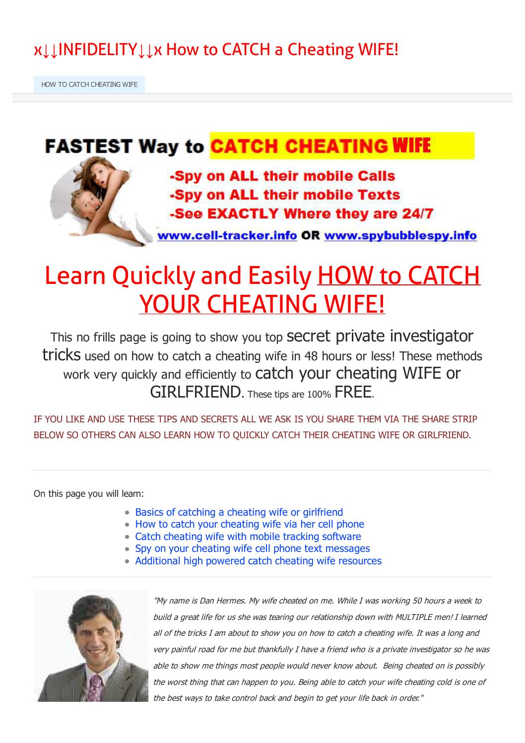 How to catch cheating wife