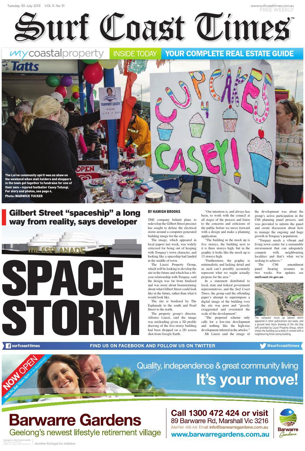 Surf Coast Times July 30 2013 By Surf Coast News Australia Pty Ltd
