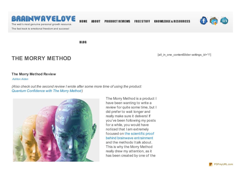 Quantum Confidence Review - The Morry Method - IXIVIXIIXIVIXI