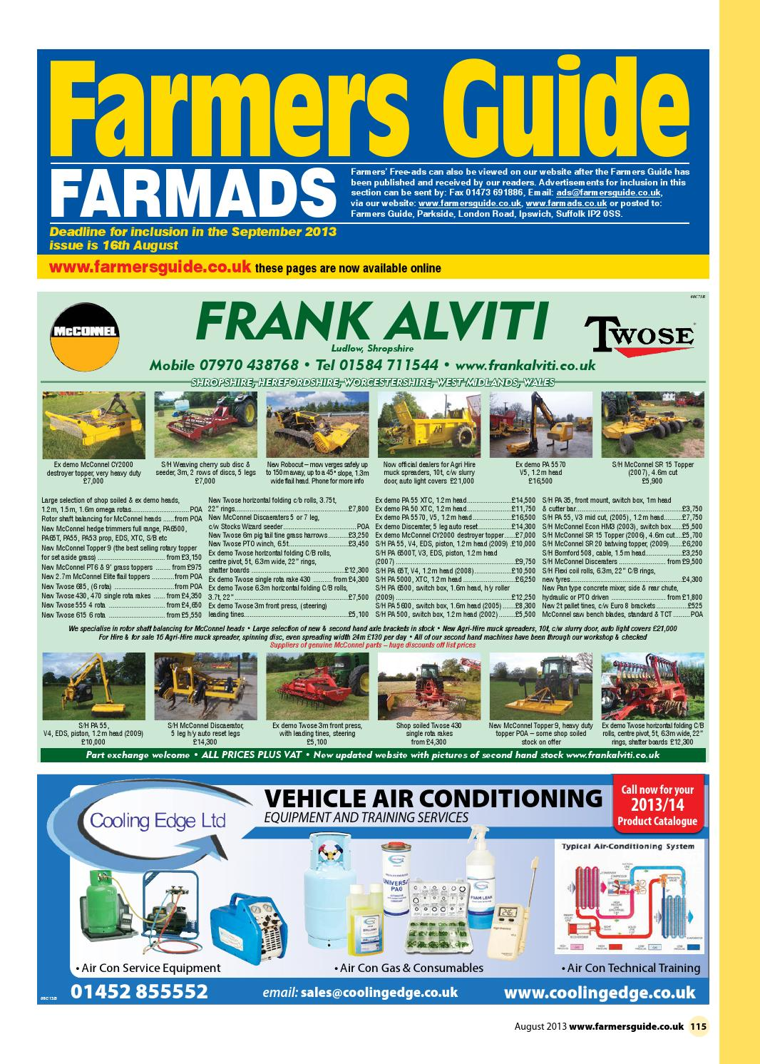 Farmers Guide classified section - August 2013 by Farmers Guide - issuu