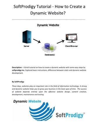 Softprodigy explained how to create a dynamic website by