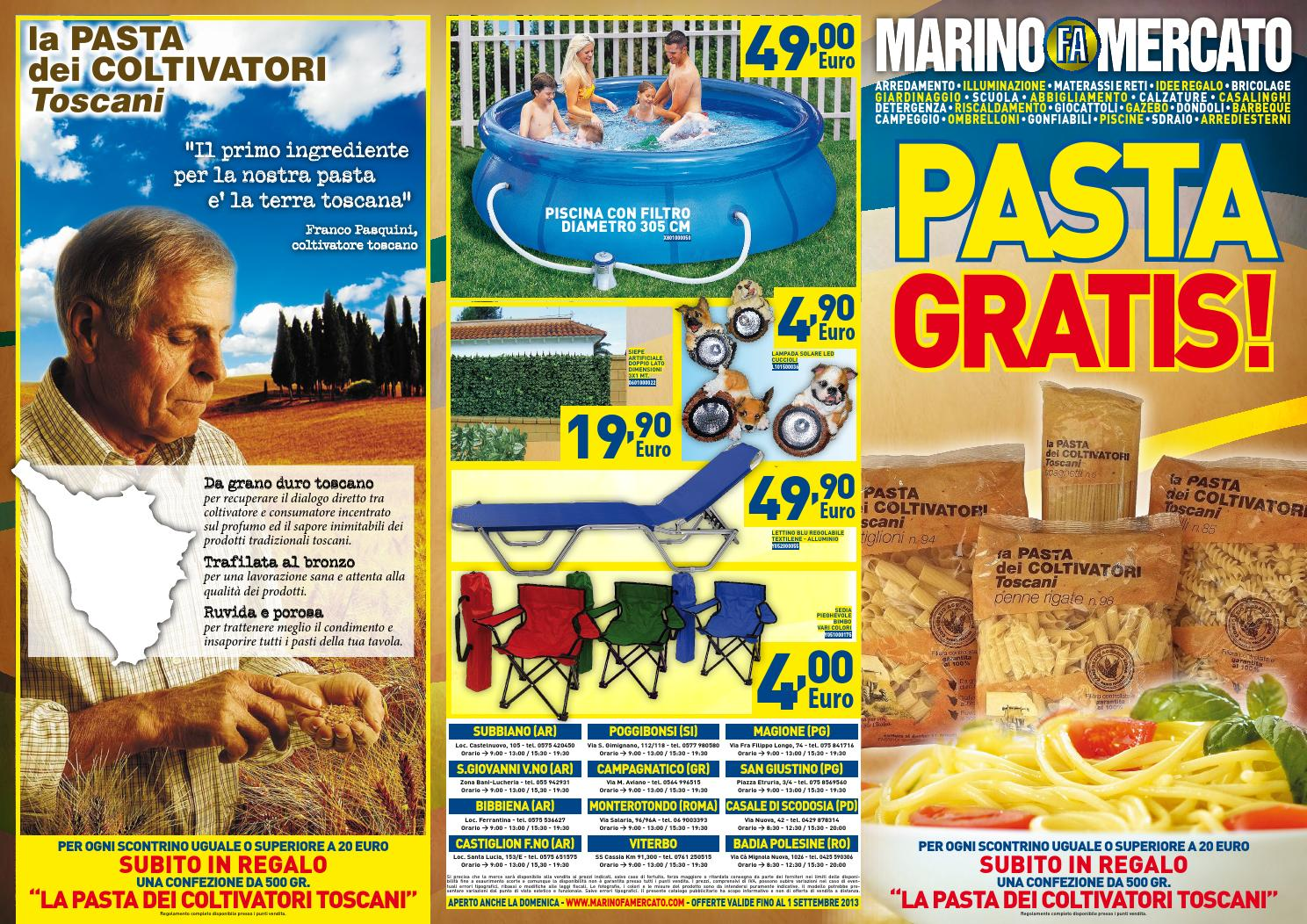 Marino fa mercato pasta gratis by marino fa mercato spa for Marino fa mercato letti