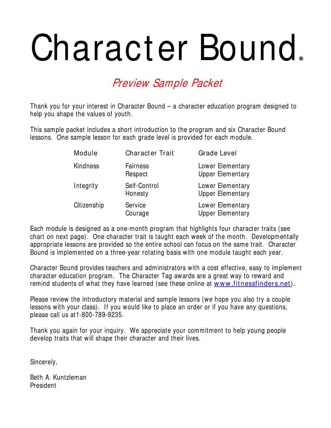character bound reg  character bound sample packet 3 years ago fitnessfindersinc