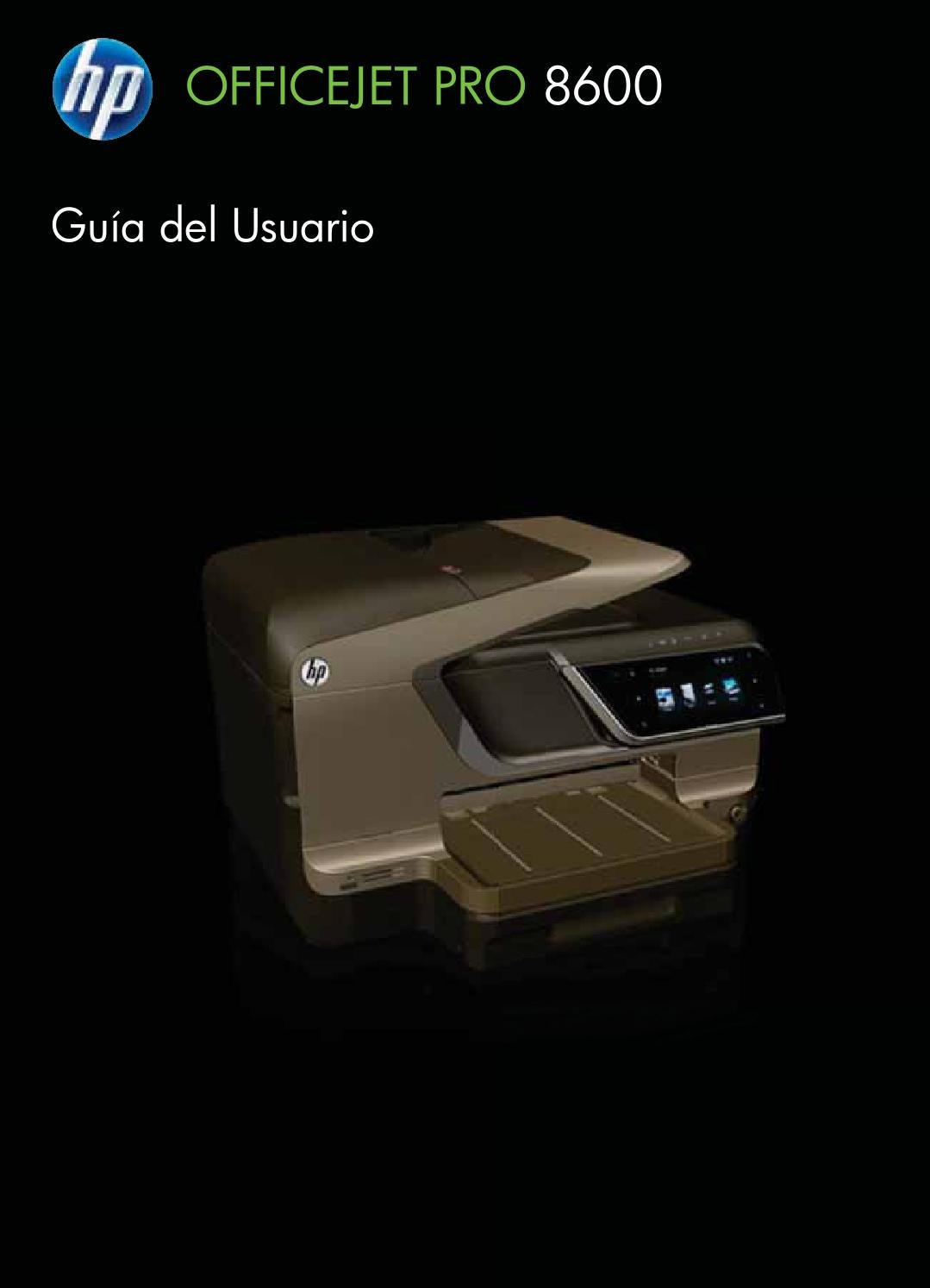Guia de usuario officejet pro 8600 pro by Pedro Velez Gonzalez - issuu