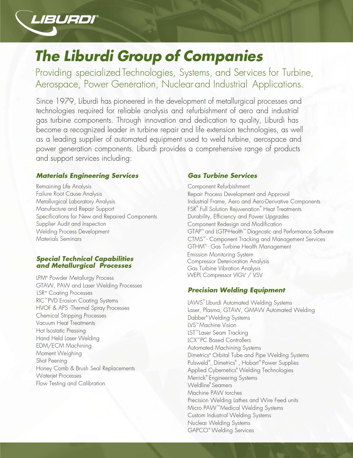 Liburdi Corporate Brochure By Issuu Correct Compressor Control Wiring Total Performance Diagnostic For