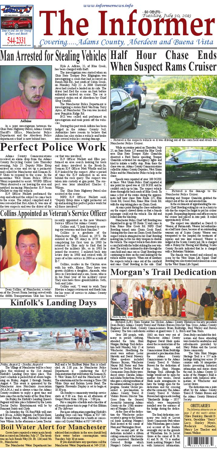 Informer july 30 2013 by Clermont Sun Publishing Company - issuu