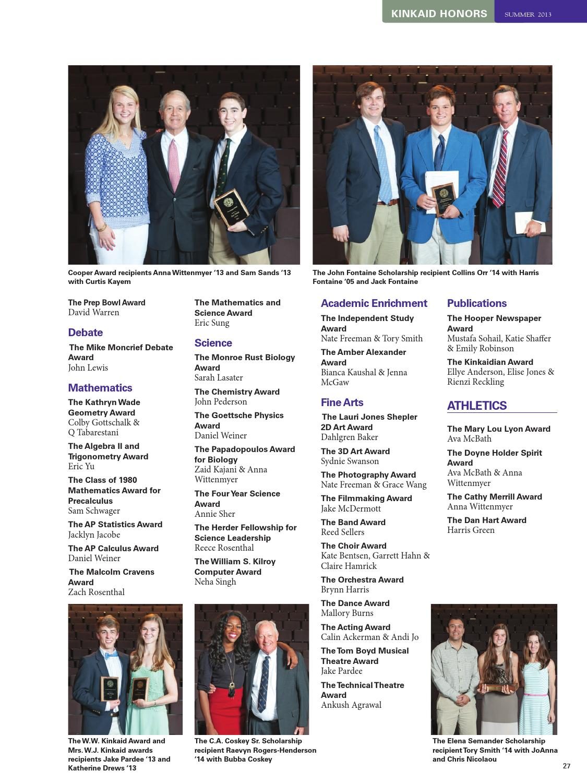 Kinkaid Magazine Summer 2013 by The Kinkaid School - issuu