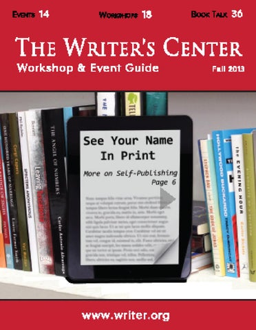 Workshop event guide fall 2013 by the writers center issuu page 1 fandeluxe Choice Image