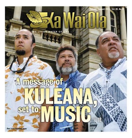 Kwo august 2013 vol 30 no 8 by ka wai ola o oha the living page 1 publicscrutiny Choice Image