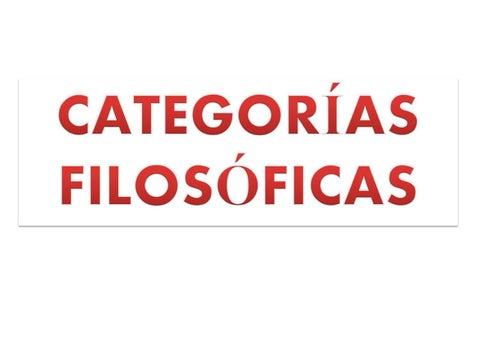 CATEGORIAS FILOSOFICAS DOWNLOAD