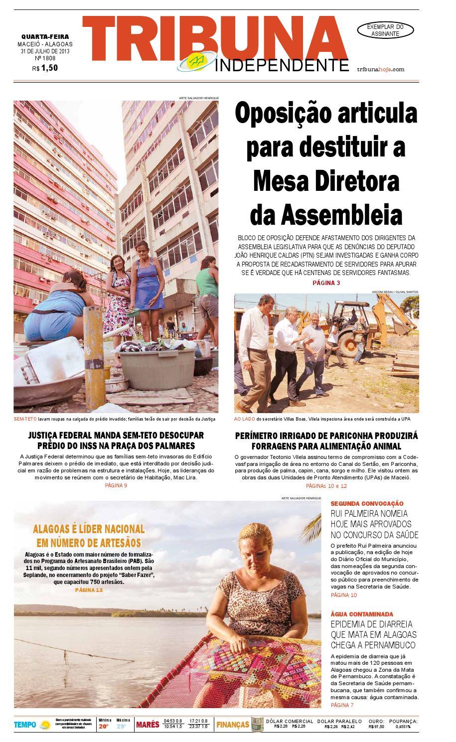 7ce8ff8a1 Edição número 1808 - 31 de julho de 2013 by Tribuna Hoje - issuu