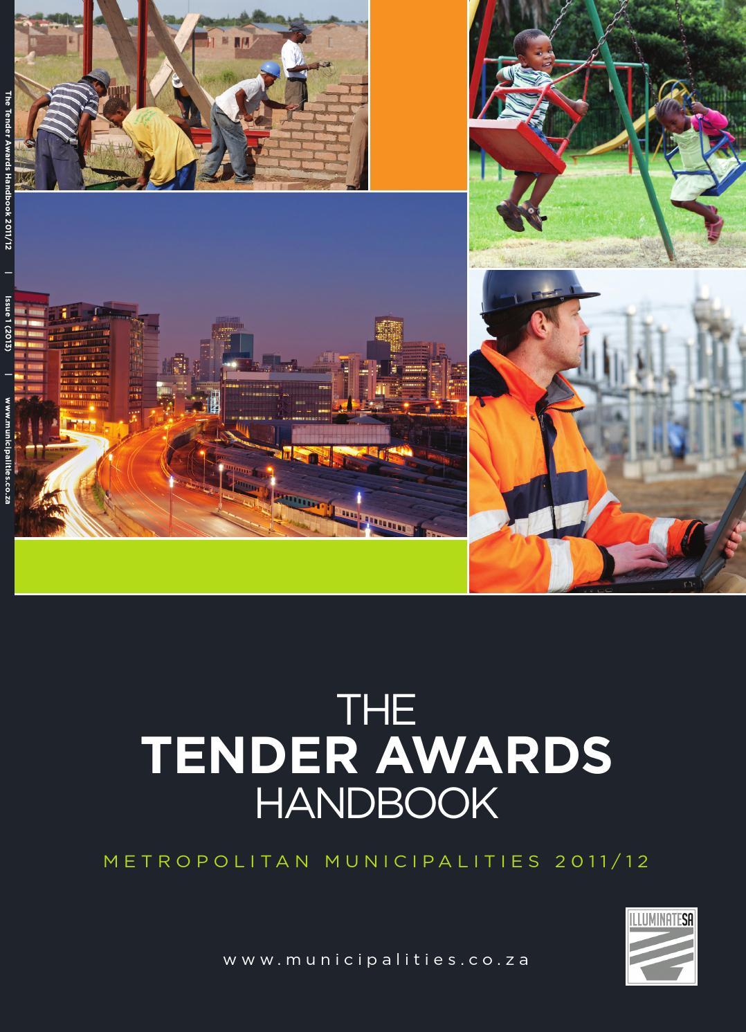 Tender Awards Handbook Metropolitan Municipalities 201112