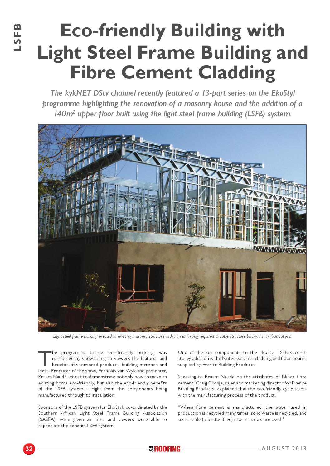 SA Roofing August 2013 | Issue: 52 by Trademax Publications