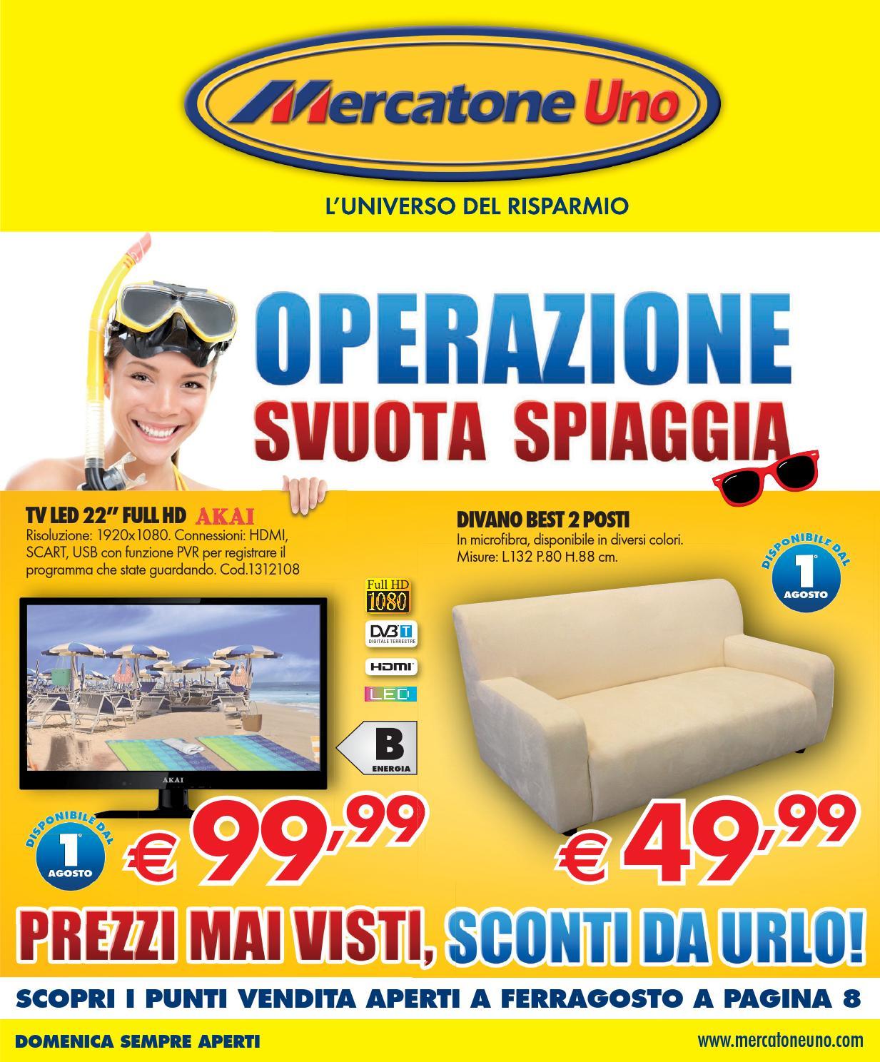 Mercatoneuno volantino 1 31agosto2013 by for Mercatone uno complementi d arredo