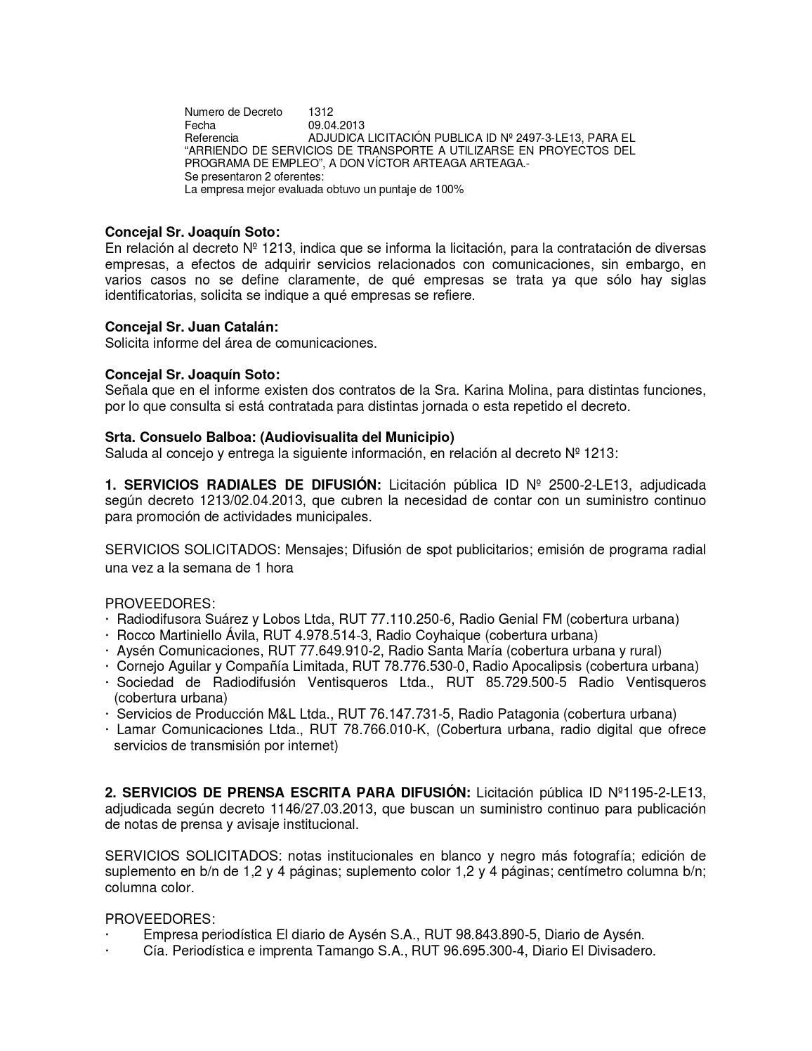 Acta sesión ordinaria N° 14 by Municipalidad de Coyhaique - issuu