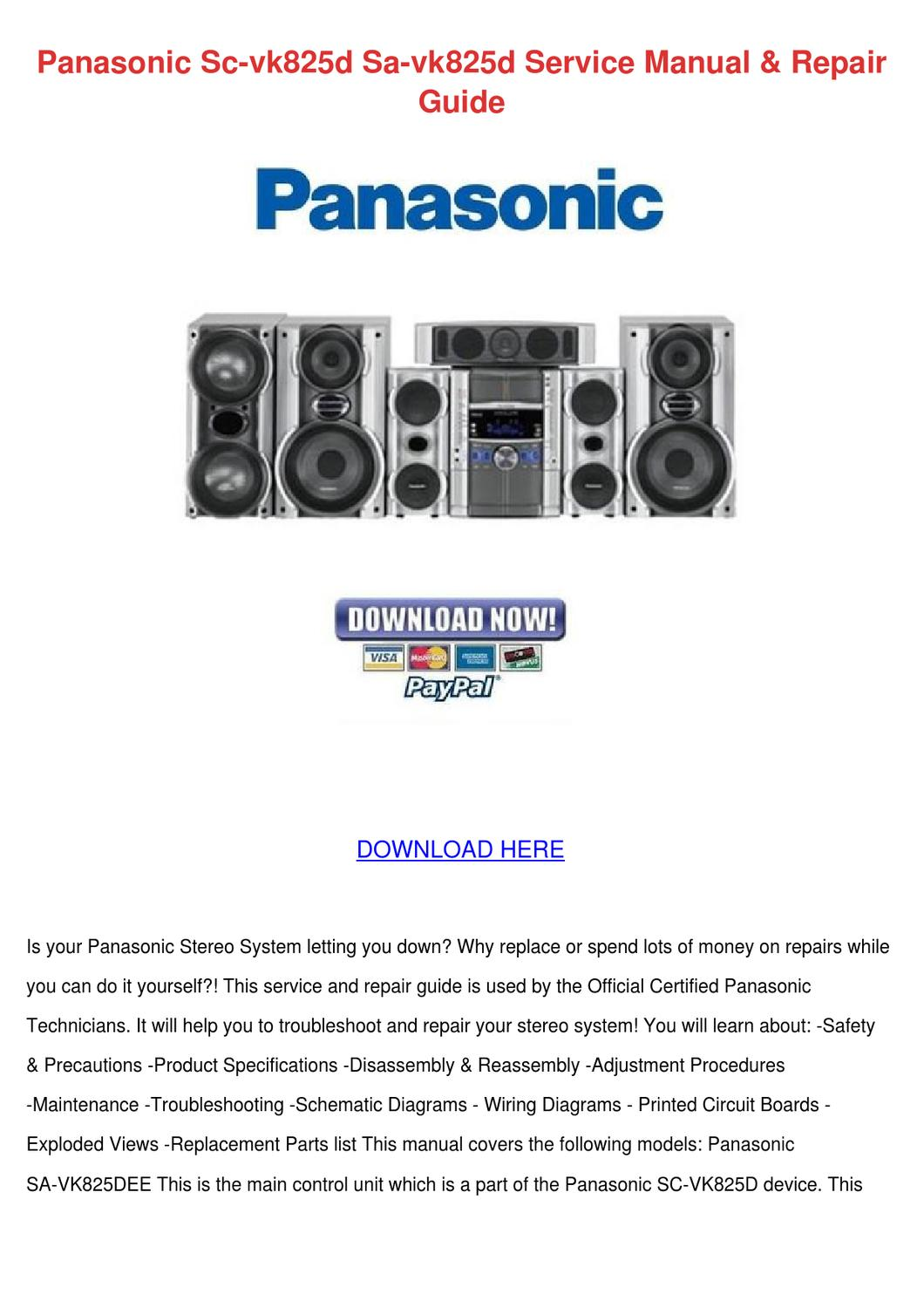 panasonic sc vk825d sa vk825d service manual by cerysboyd. Black Bedroom Furniture Sets. Home Design Ideas