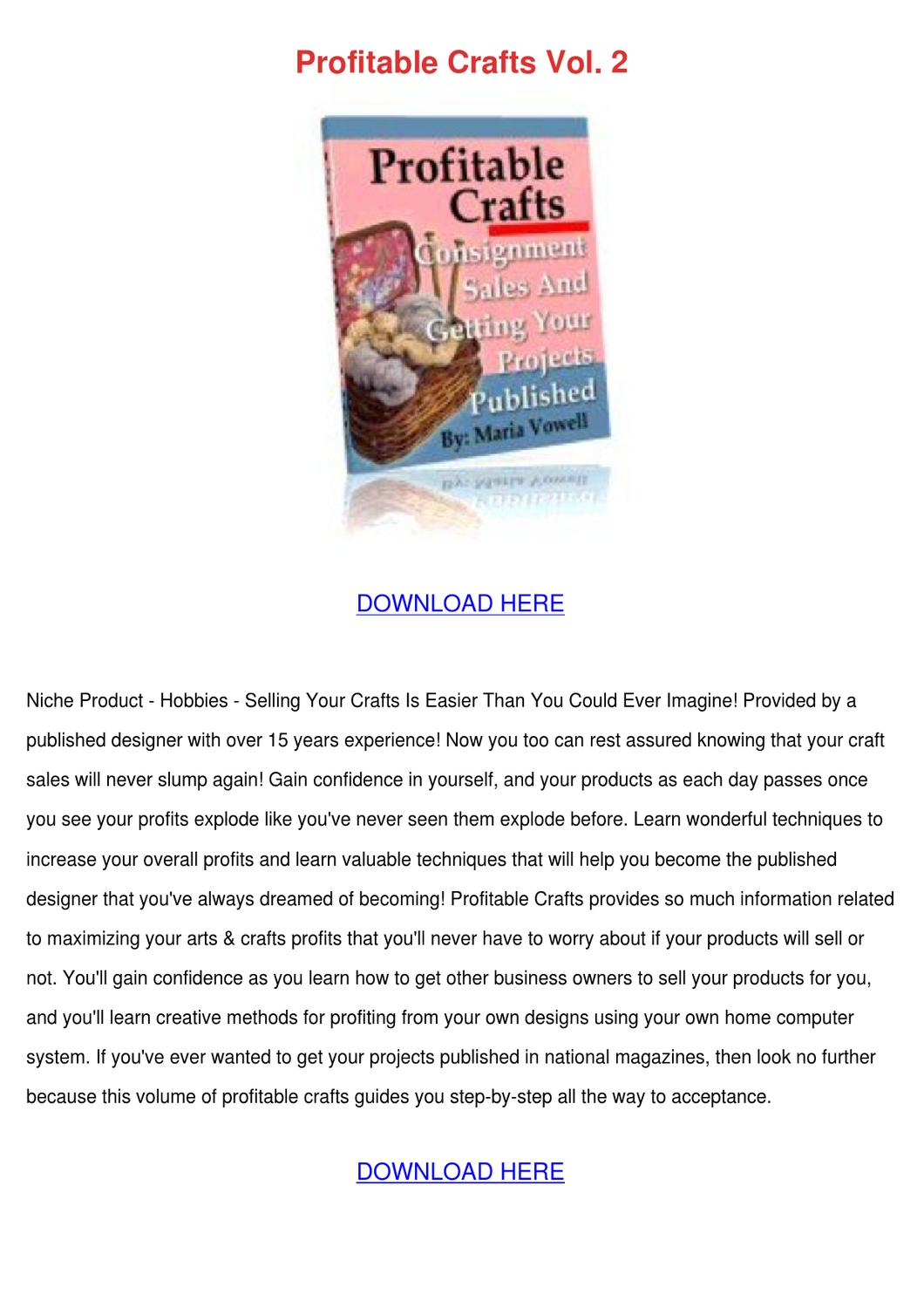 Profitable crafts vol 2 by lillalegg issuu for Profitable crafts