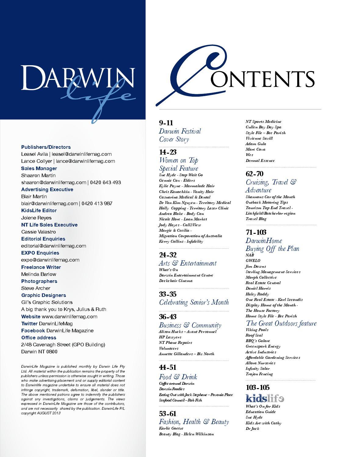 DarwinLIfe Magazine August 2013