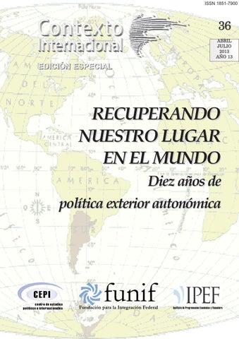 CONTEXTO INTERNACIONAL Nº 36 EDICIÓN ESPECIAL RECUPERANDO NUESTRO ...