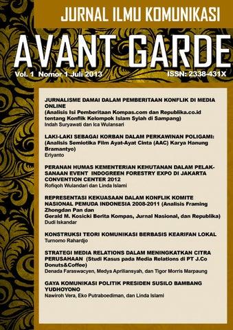 Avant Garde Vol 1 No 1 Juli 2013 By Blacksheepwall Issuu
