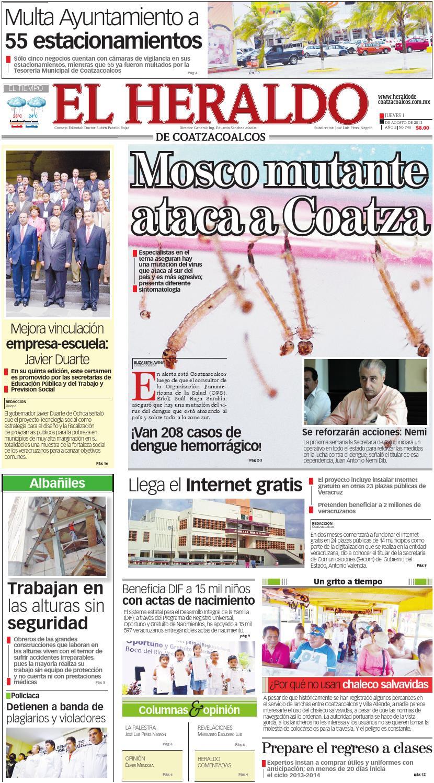 Heraldo de Coatzacoalcos 01agosto2013 by El Heraldo de Coatzacoalcos ...