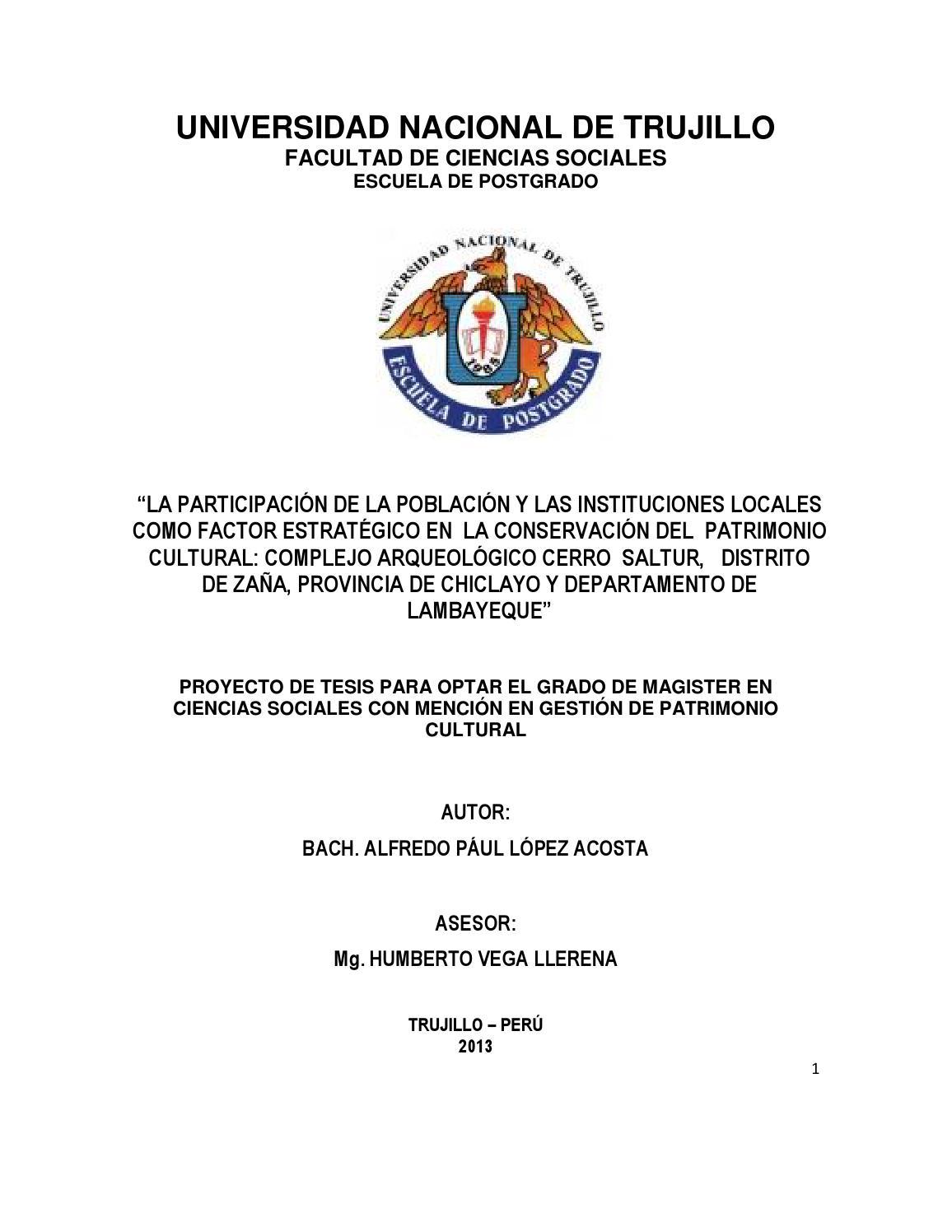 Gestion Del Alfredo By Complejo Patrimonio Paúl Issuu Perú Cerro López Lambayeque; Saltur Acosta Arqueológico Cultural -