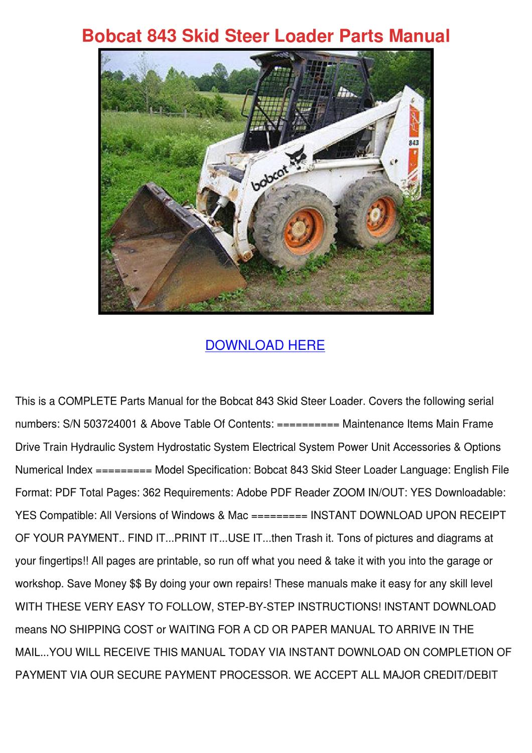 Array - bobcat 843 skid steer loader parts manual by leighlawler   issuu  rh   issuu com