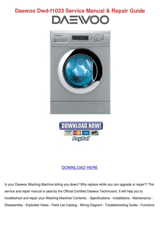 Daewoo Washing Machine Wiring Diagram on