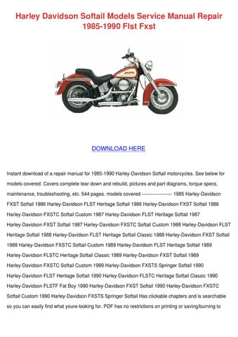 harley davidson softail models service manual by. Black Bedroom Furniture Sets. Home Design Ideas