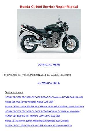 honda cb900f service repair manual by kareemgomez issuu rh issuu com honda cb900f repair manual download honda cb900f repair manual download