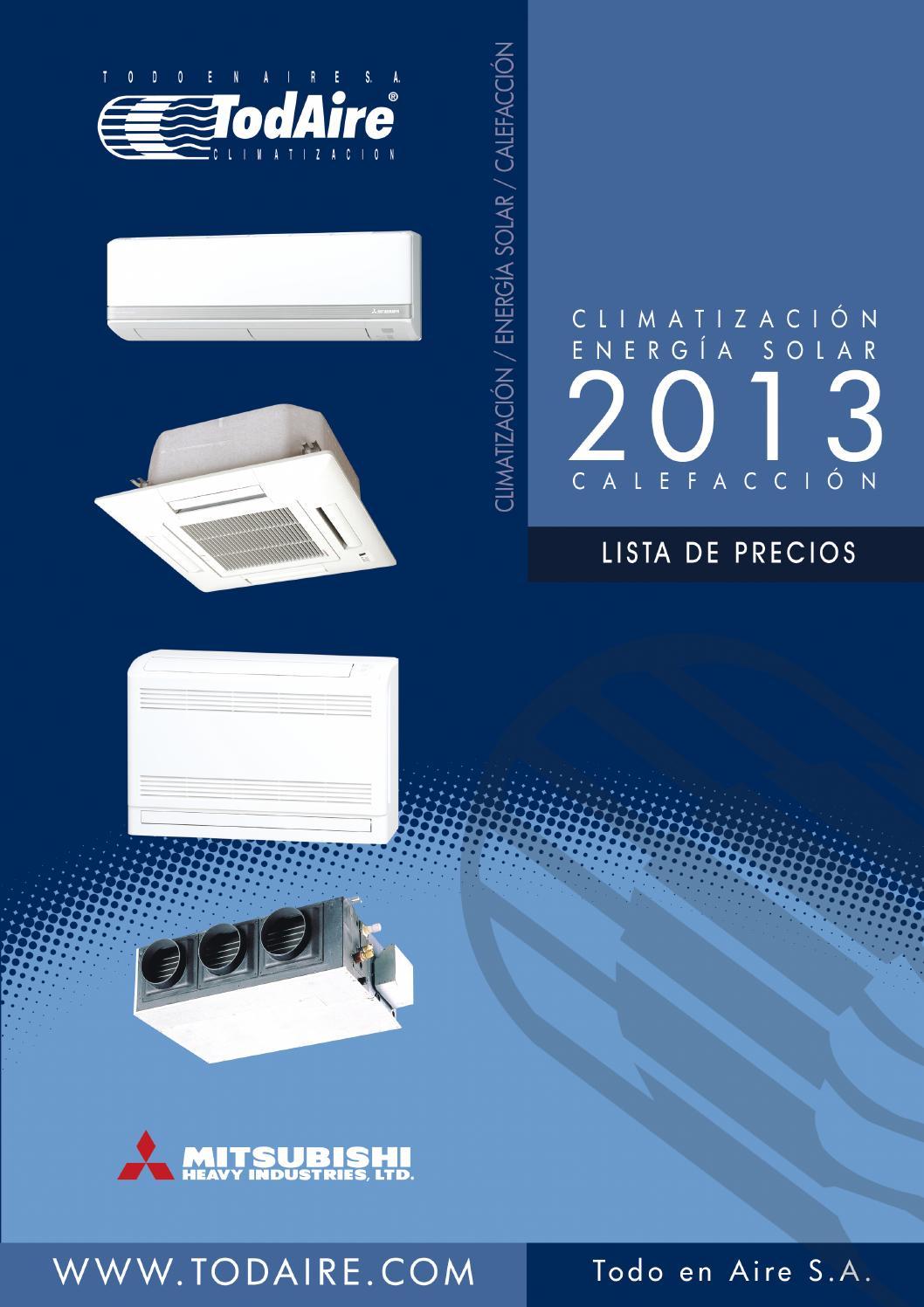 Tarifa climatizaci n todaire 2013 by javier garcia issuu for Aire acondicionado johnson precios