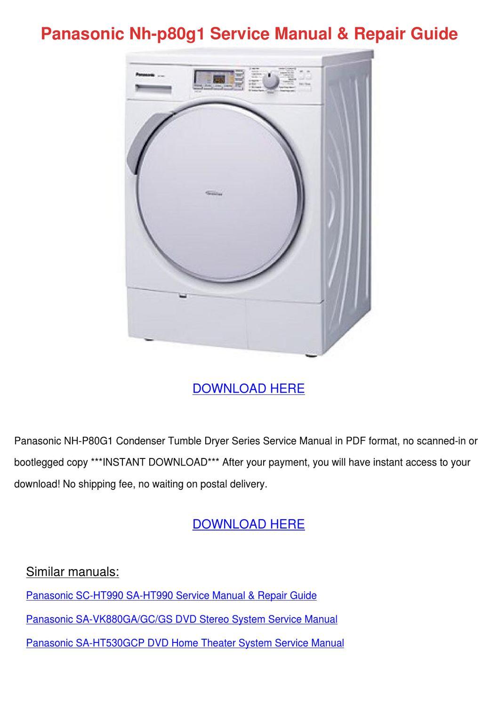 Panasonic Nh P80g1 Service Manual Repair Guid by OwenPage - issuu