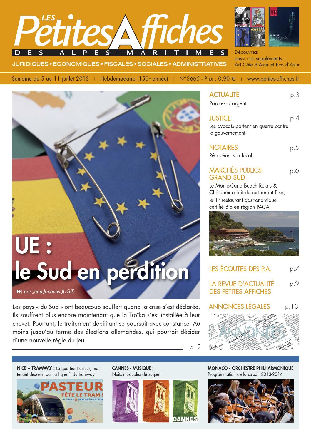 Semaine du 5 au 11 juillet 2013 by Les Petites Affiches - issuu