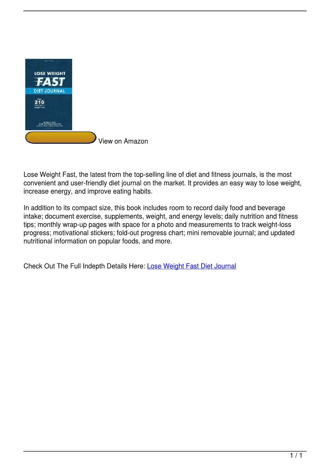 lose weight fast diet journal by jackie pham issuu