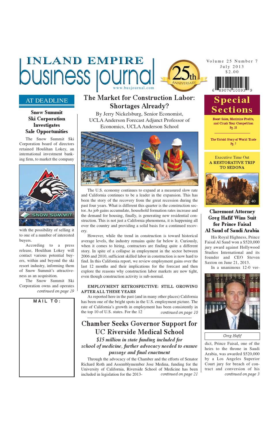 July 2013 by Inland Empire Business Journal - issuu
