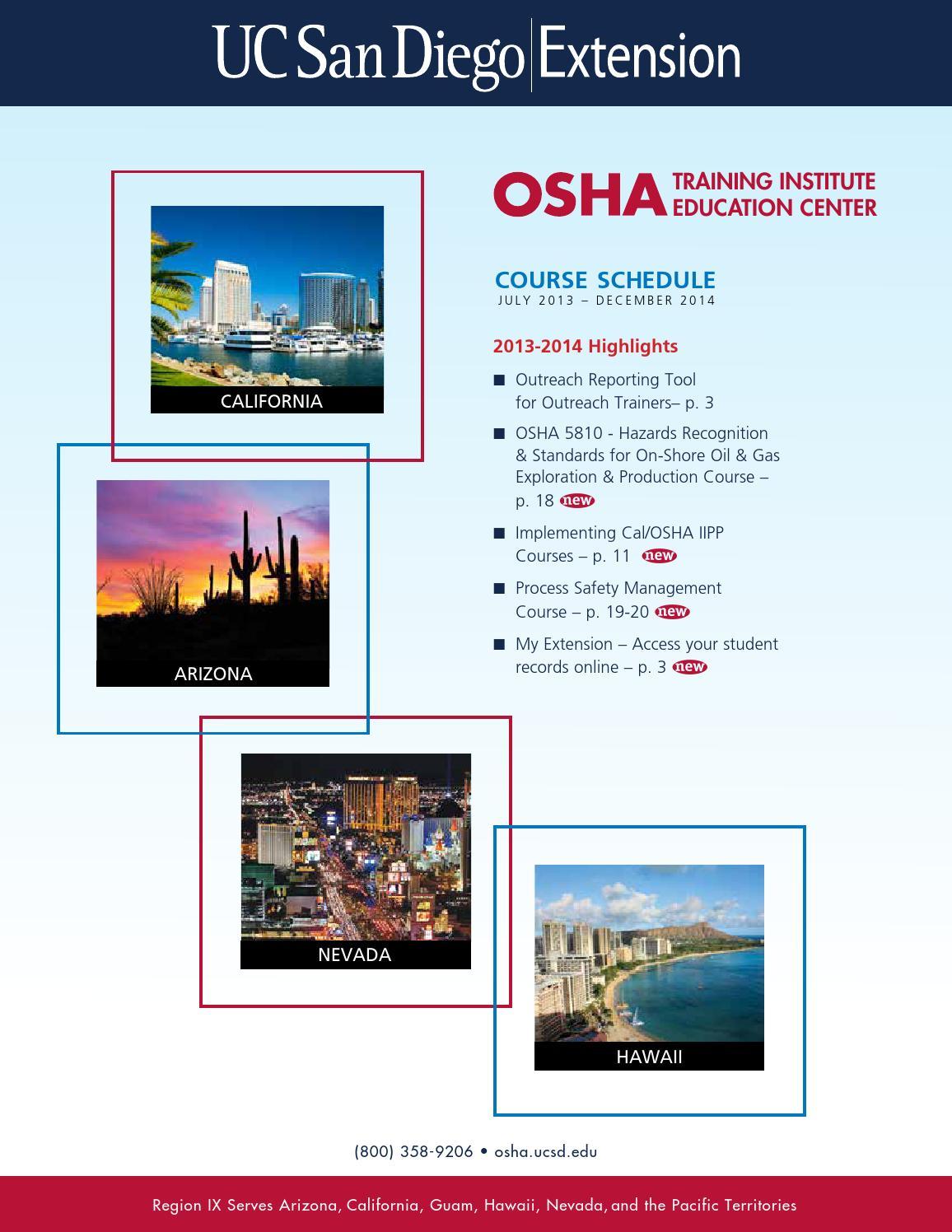 Catalog | 2013-14 | OSHA Training Institute Education Center