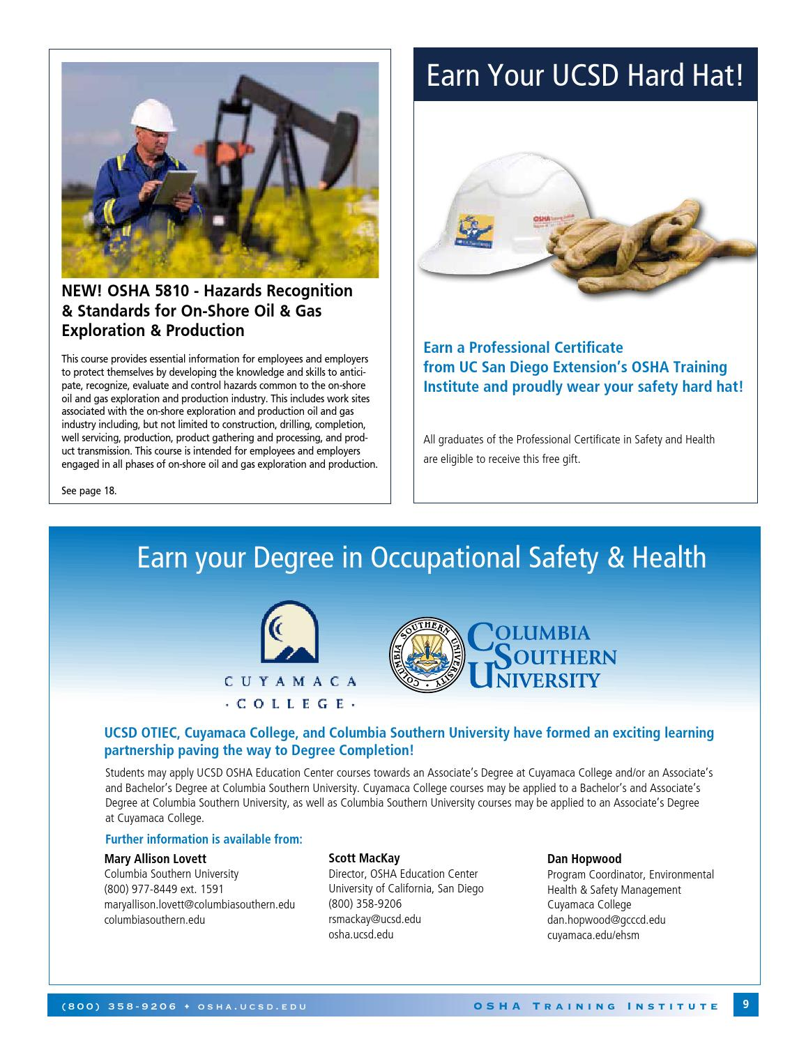 Catalog | 2013-14 | OSHA Training Institute Education Center