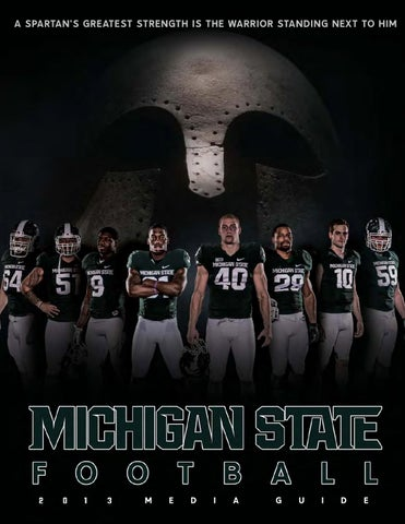 fc62c492fb32 2013 Michigan State Football Media Guide by Ben Phlegar - issuu