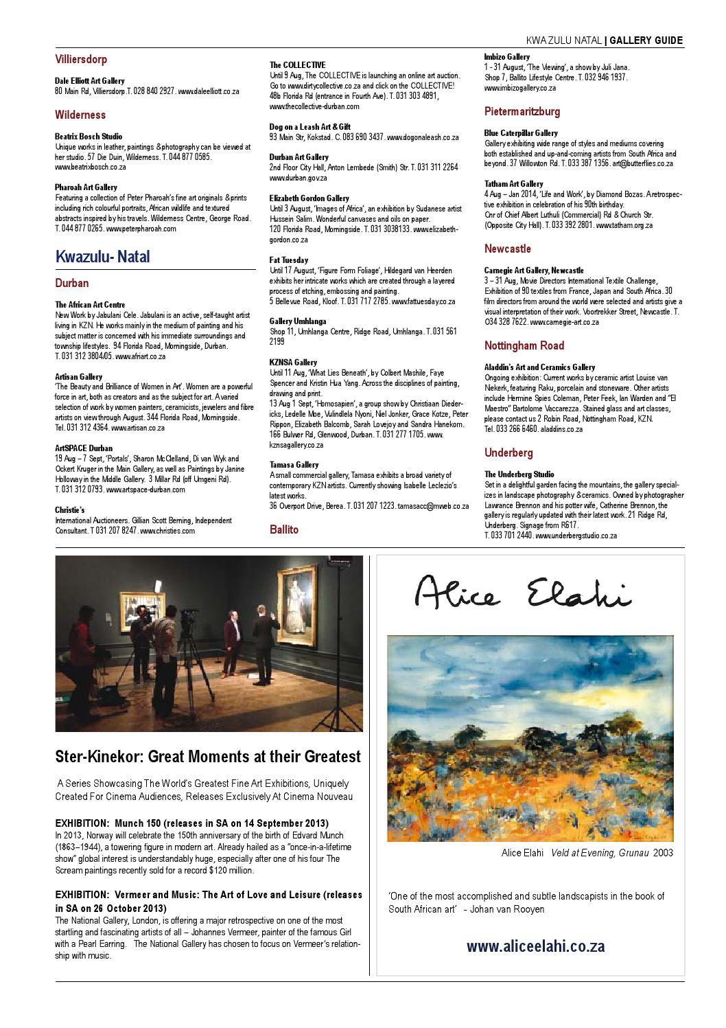 SA Art Times August 2013