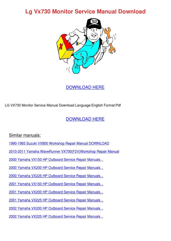 ... outboard service repair manual ebook rh 2004 yamaha vx250 hp Array - lg  vx730 monitor service manual download by weldontuggle issuu rh issuu ...