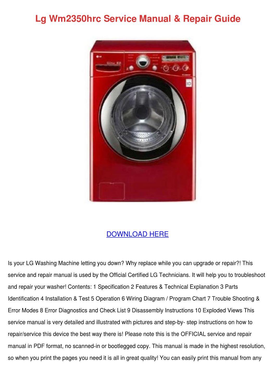 Lg Wm2350hrc Service Manual Repair Guide By Weldontuggle Issuu Wiring Diagram Of Washing Machine Pdf