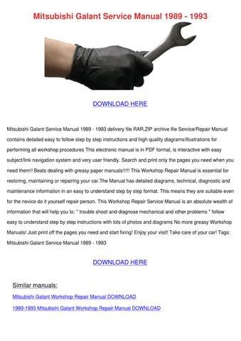 mitsubishi galant 7th gen 1994 1998 service repair manual