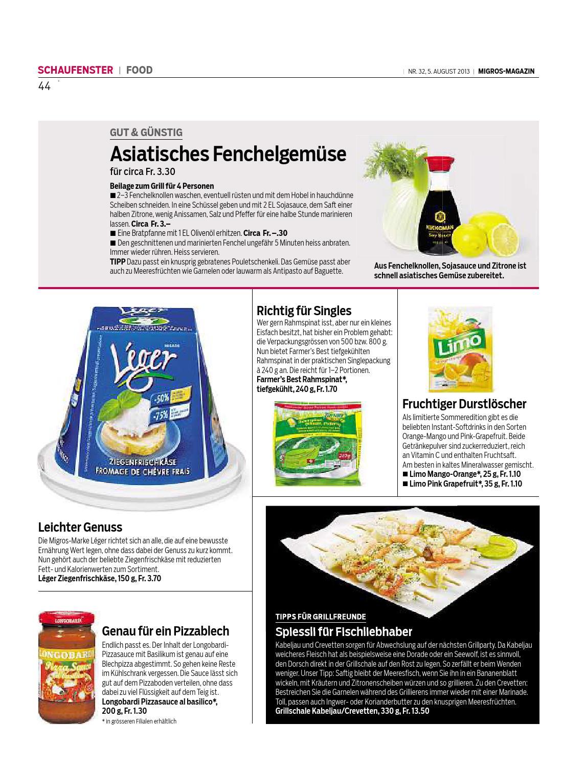 Migros Magazin 32 2013 D Lu By Migros Genossenschafts Bund Issuu