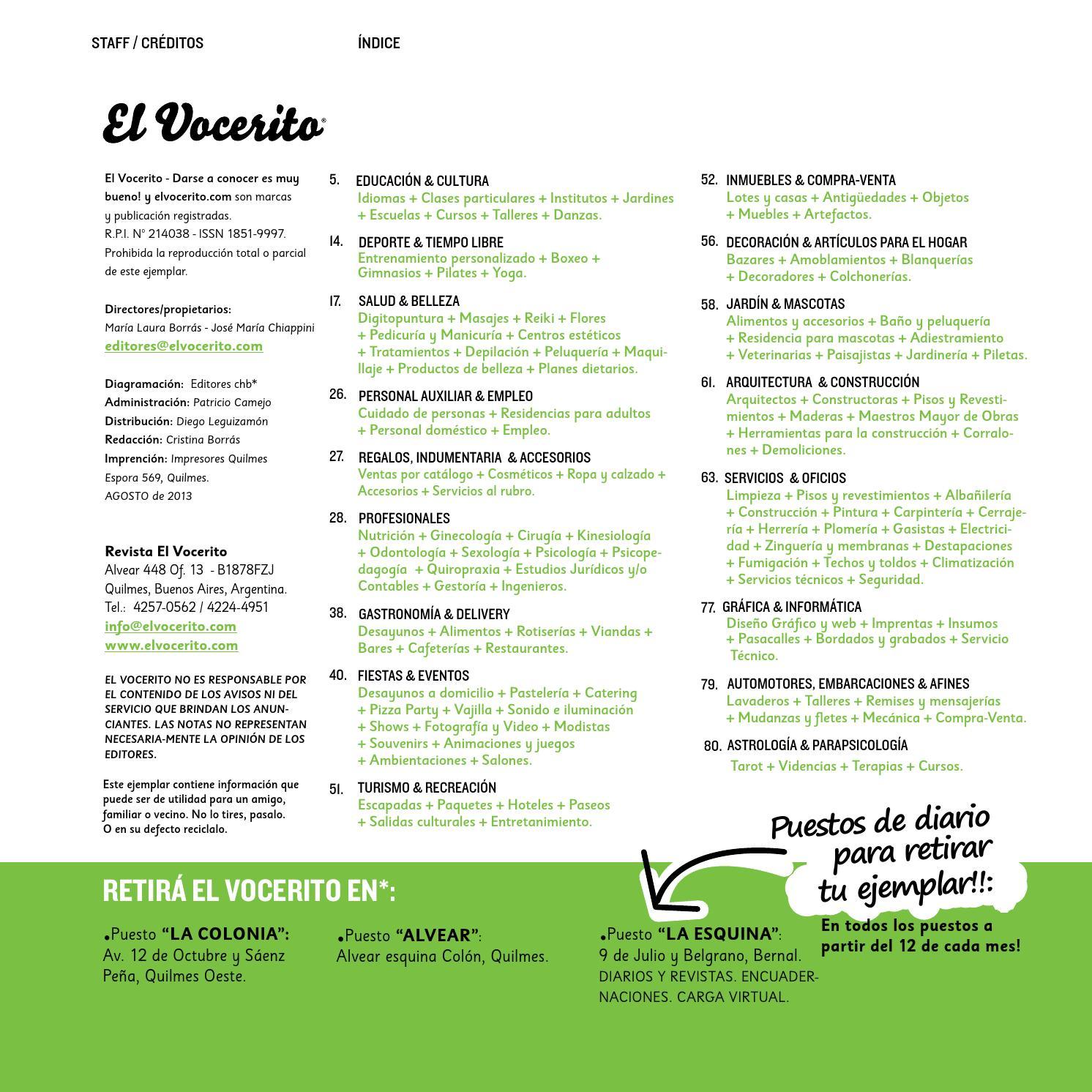 Revista El Vocerito Ed Agosto 2013 By Elvocerito Com Revista  # Muebles Kinesiologia