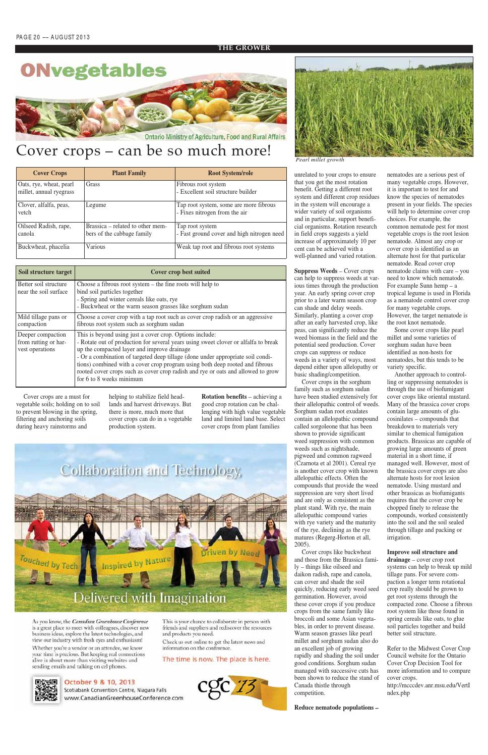 The Grower August 2013