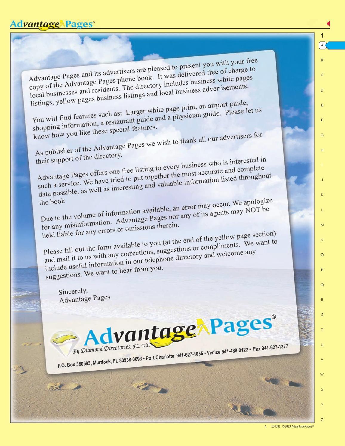 Advantage Pages Venice, Fl Edition by Advantage Pages, Large Print ...