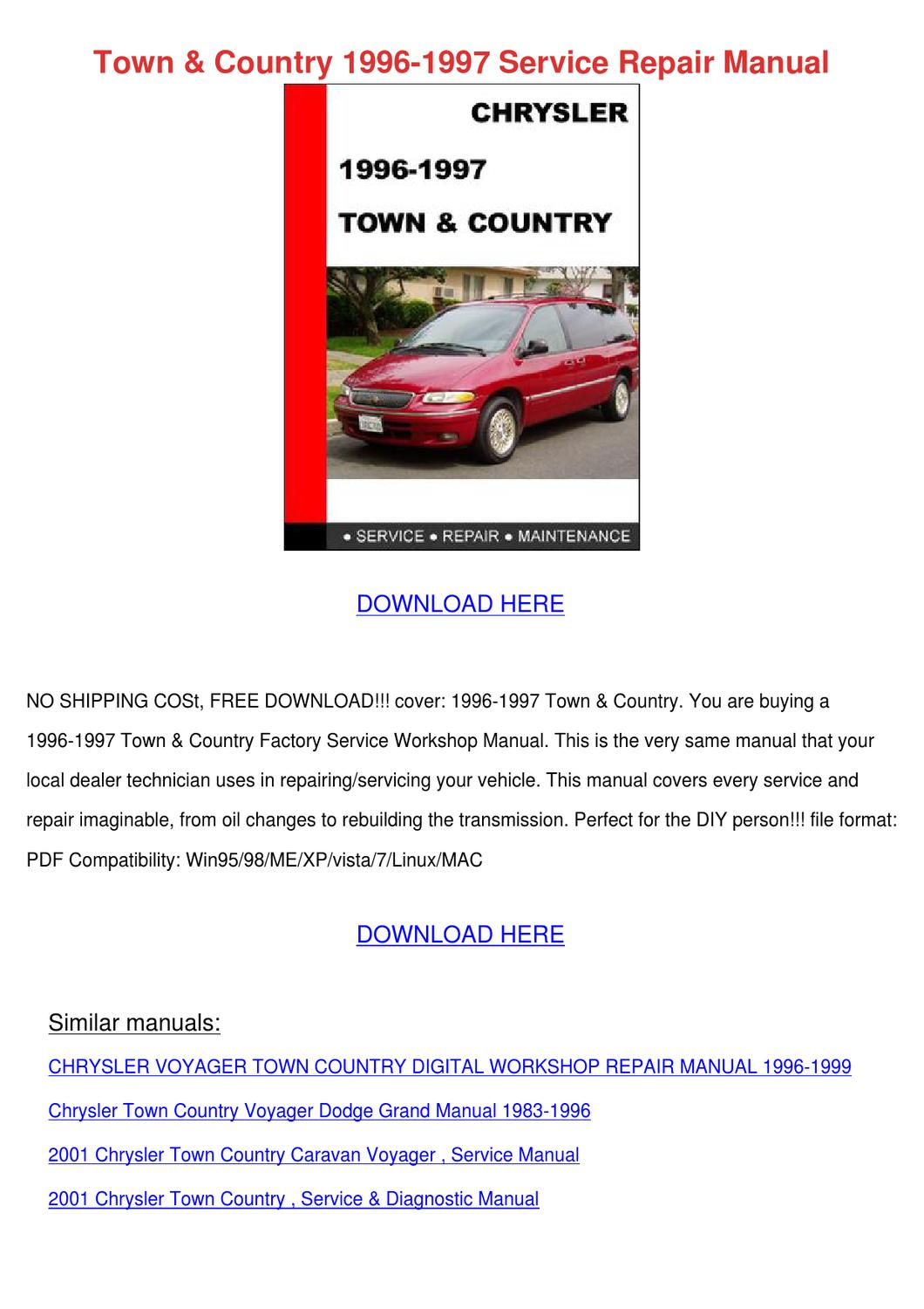 Town Country 1996 1997 Service Repair Manual by EffieCowart - issuu