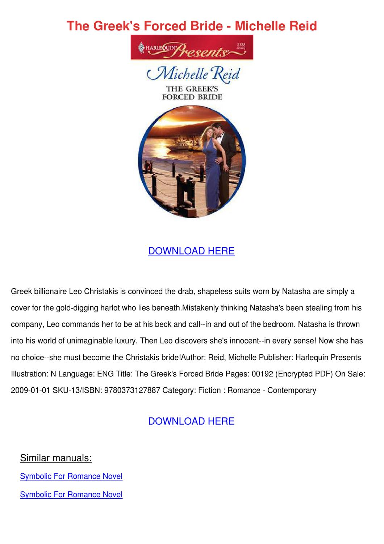 The Markonos Bride by Michelle Reid - Read Online