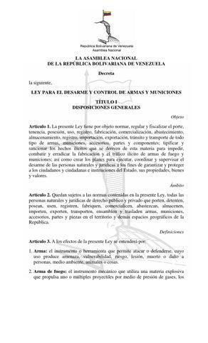 Ley para el desarme y control de armas y municiones by for Porte y tenencia de armas de fuego en republica dominicana