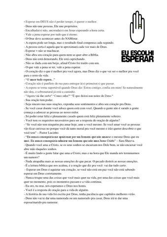 Frases Projeto Eu Escolhi Esperar By Marcelo Rezende Issuu